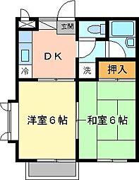 ディアコート六浦[203号室]の間取り