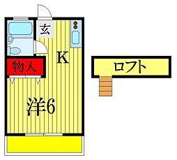 コークハイム[2階]の間取り