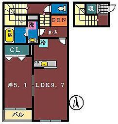 リバティファースト[2階]の間取り