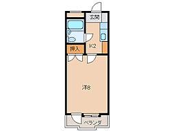 コーポ三沢[1階]の間取り
