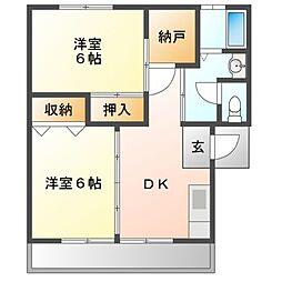 KamikenAP[1階]の間取り