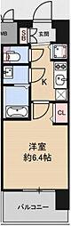 Osaka Metro中央線 九条駅 徒歩4分の賃貸マンション 4階1Kの間取り