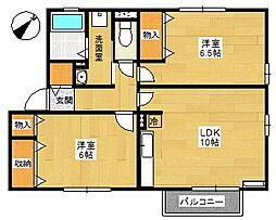 サンコート1番館[1階]の間取り