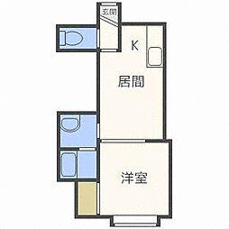 プチパレ[1階]の間取り