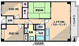 アバンティ千里[7階]の間取り