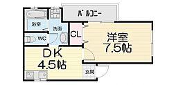 大阪府堺市西区太平寺の賃貸マンションの間取り