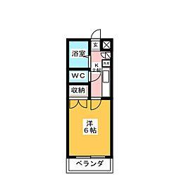 カンダミニアム仙台[2階]の間取り