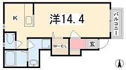 兵庫県姫路市広畑区高浜町1丁目の賃貸アパートの間取り