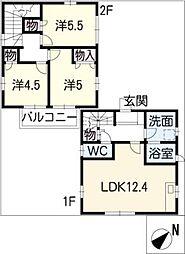 [一戸建] 愛知県西尾市大給町 の賃貸【/】の間取り