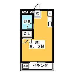 ファルコン瑞穂[3階]の間取り