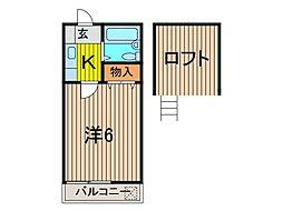 ラディッシュ川田[2階]の間取り
