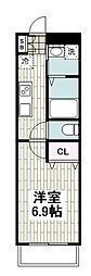 JR京浜東北・根岸線 根岸駅 徒歩7分の賃貸アパート 3階1Kの間取り