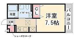 フロントハウス[B-102号室]の間取り