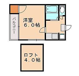 パルム南福岡[1階]の間取り