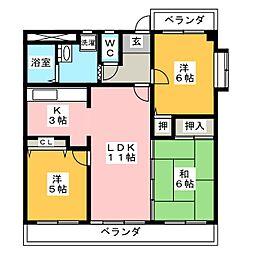 CASA キサラギ[1階]の間取り