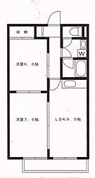 アルカディア・エル[1階]の間取り