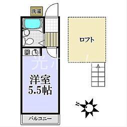 清瀬サンハイツ[1階]の間取り