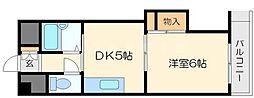 上新庄駅前グランドハイツ北[5階]の間取り