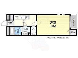 阪急京都本線 高槻市駅 徒歩13分の賃貸アパート 1階1Kの間取り
