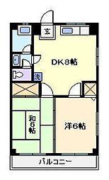 ロイヤル新家[3階]の間取り