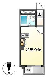 ラディアント鶴舞[4階]の間取り