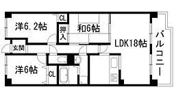 セレーノ花屋敷[1階]の間取り