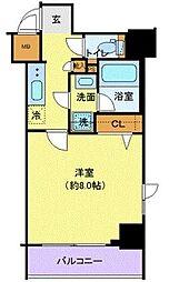 京王線 府中駅 徒歩6分の賃貸マンション 4階1Kの間取り