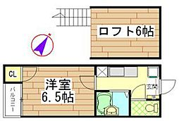 stage井尻[105号室]の間取り