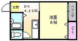 ロイヤルコート8番館[6階]の間取り