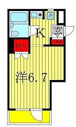 ジュネパレス松戸第51[2階]の間取り