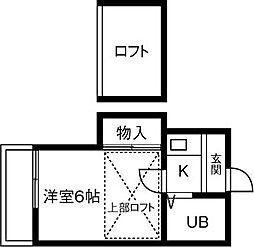 サンライズ稲沢[206号室]の間取り