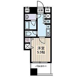 西川ビル[8階]の間取り