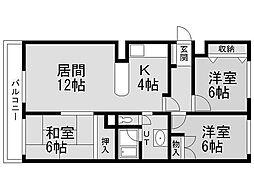 レスポワール発寒[5階]の間取り