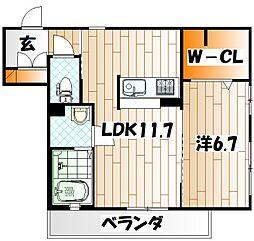シャーメゾン黒住[2階]の間取り