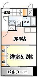 仙台市地下鉄東西線 川内駅 徒歩19分の賃貸マンション 8階1DKの間取り