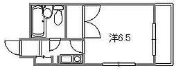 ロイヤルハウス横川[402号室]の間取り