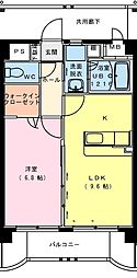 サンパティークFUTABA[4階]の間取り