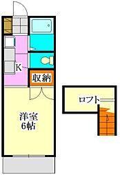 メゾンK[103号室]の間取り