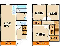 [タウンハウス] 兵庫県神戸市西区玉津町出合 の賃貸【/】の間取り