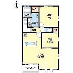プリーマ 今宿 III[1階]の間取り
