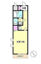 神奈川県相模原市中央区相模原3丁目の賃貸マンションの間取り