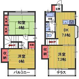 [テラスハウス] 埼玉県さいたま市南区太田窪4丁目 の賃貸【/】の間取り