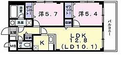 東京都東大和市狭山2丁目の賃貸マンションの間取り