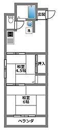 東林間コーポラス[1階]の間取り