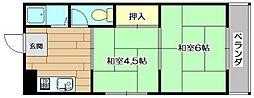 ニシマンション[2階]の間取り