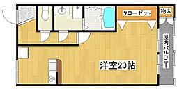 阪下ハウスマンションA棟[2階]の間取り