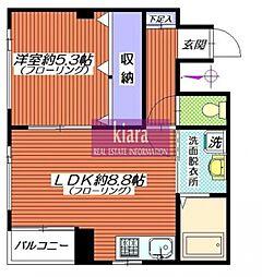 K&W bldg 2a[2号室]の間取り