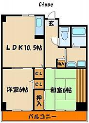 メイカビル[4階]の間取り