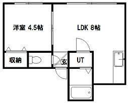 ハウスN19[101号室]の間取り