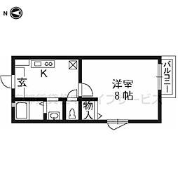 グランツ山田(NO.603)[2階]の間取り